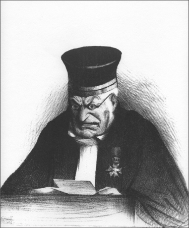 Honoré Daumier — Jaquinet God– (The Judge) (1833)